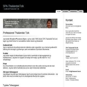 Thailandsk tolk - SPA-tolkeservice