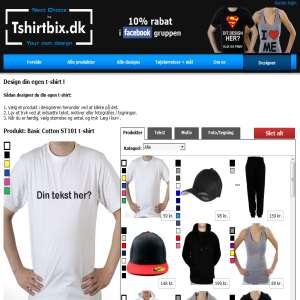 T-Shirtbix.dk - Design dit eget tøj! Tekst, billeder, fotos. m.v.