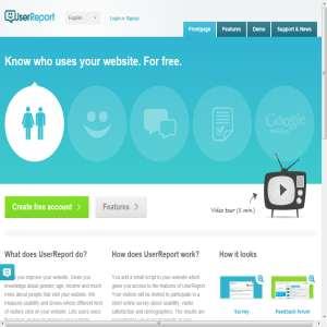 UserReport - Gratis webanalyse
