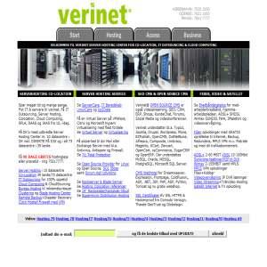 Serverhosting hos Verinet.dk