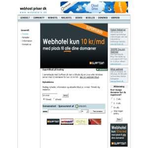 Webhostpriser.dk