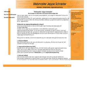 Webmaster Jeppe Schrøder