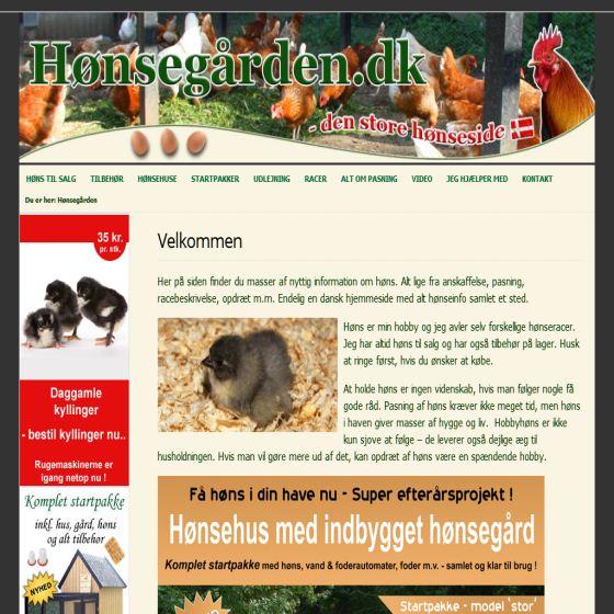 Hønsegården.dk - Køb høns og udstyr