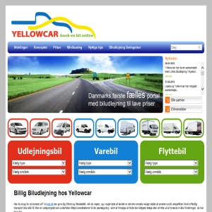 Biludlejning - Yellowcar