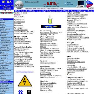 Fysik og kemi på DUDA